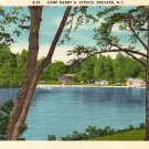 Camp Harry H Straus in Brevard North Carolina NC Linen Postcard - 0170