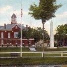 Court House, Soldier's Monument in Farmington Maine ME 1907 Vintage Postcard - 0199