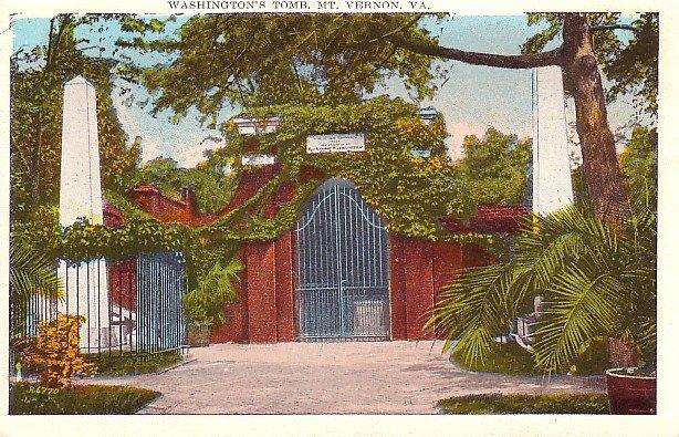 Washington's Tomb in Mount Vernon, Virginia VA Vintage Postcard - 0223