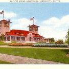 Shelter House at Swope Park in Kansas City Missouri MO Linen Postcard - 0251