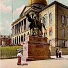 Hooker Monument and State House in Boston Massachusetts MA Raphael Tuck & Sons Postcard - 0375