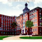 Franklin Hospital in San Francisco California CA Vintage Postcard - 0416