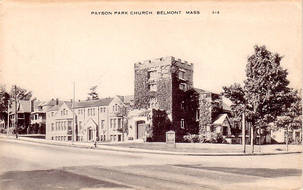 Payson Park Church in Belmont Massachusetts MA Vintage Postcard - 0451