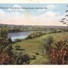 Black Hawk Park and Rock river in Rockford Illinois IL Vintage Postcard - 0469