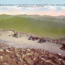 Mt. Washington Summit in White Mountains New Hampshire NH Linen Postcard - 0532