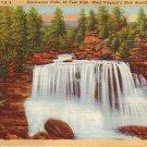Blackwater Falls in West  Virginia WV 1935 Curt Teich Linen Postcard - 0659