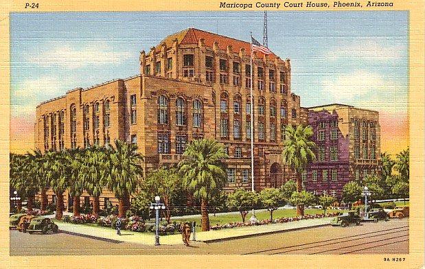 Maricopa County Court House in Phoenix Arizona AZ 1939 Curt Teich Postcard - 0699