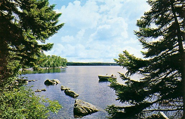 Mount Kineo on Moosehead Lake in Kineo Maine ME Chrome Postcard - 0702