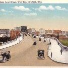 High Level Bridge in Cleveland Ohio OH, 1920 Vintage Postcard - 0716