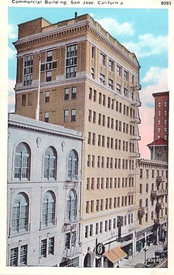 San Jose Commercial Building in California CA Vintage Postcard - 0748
