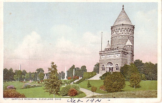 Garfield Memorial in Cleveland Ohio OH, 1915 Vintage Postcard - 0761