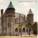 Museum of Art in Detroit Michigan MI, 1906 Vintage Postcard - 0779