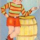 Hoodlum Smoking Cigarette Linen Comic Postcard - 0797