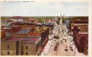 Capitol Avenue in Cheyenne Wyoming WY Vintage Postcard - 0837