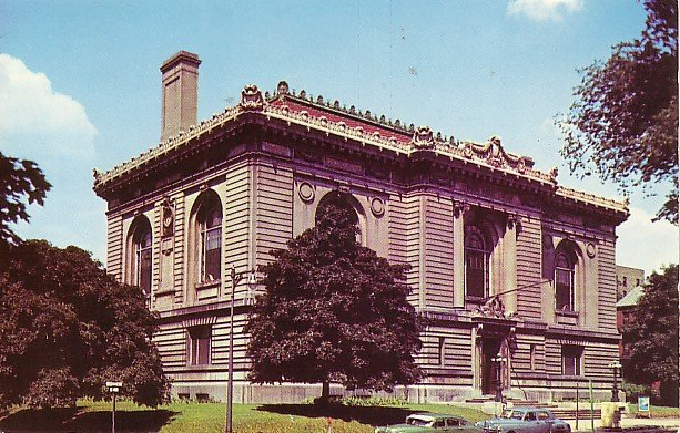 Ryerson Library in Grand Rapids Michigan MI Chrome Postcard - 0904