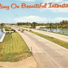 Traveling On Beautiful Interstate 80 Chrome Postcard - 0924
