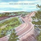 Mount Vernon Canyon Near Denver Colorado CO Linen Postcard - 0956
