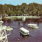 Glass Bottomed Boats in Silver Springs, Florida  FL Chrome Postcard - 0968