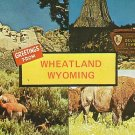 Greetings from Wheatland Wyoming WY Chrome Postcard - 0990