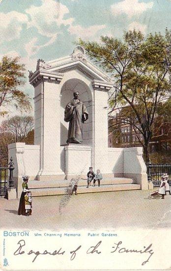 William Channing Memorial in Boston Massachusetts Raphael Tuck & Sons Postcard - 1063