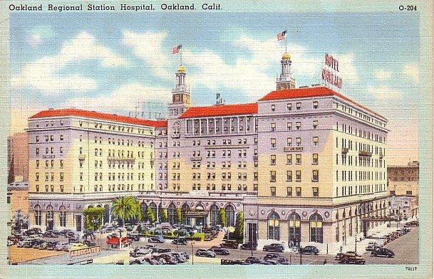 Regional Station Hospital in Oakland California CA Linen Postcard - 1075