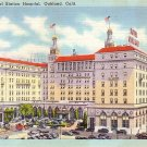 Regional Station Hospital in Oakland California CA Linen Postcard - 1075