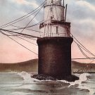 Mile Rock Lighthouse in San Francisco California CA Vintage Postcard - 1186