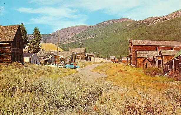 1872 Former Mining Camp in Elkhorn Montana MT Chrome Postcard - 1287