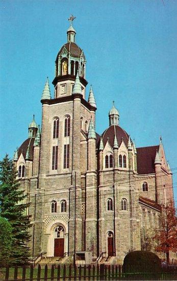 St. Francis Xavier Church at Nashua New Hampshire NH Chrome Postcard - 1290