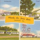 Moody Air Force Base in Valdosta Georgia GA, Mid Century Linen Postcard - 1672