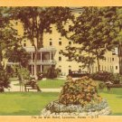 The De Witt Hotel in Lewiston, Maine ME Mid Century Linen Postcard - 1718