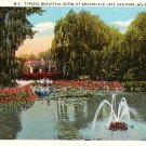 Greenfield Lake and Park in Wilmington North Carolina NC 1931 Curt Teich Postcard - 1723