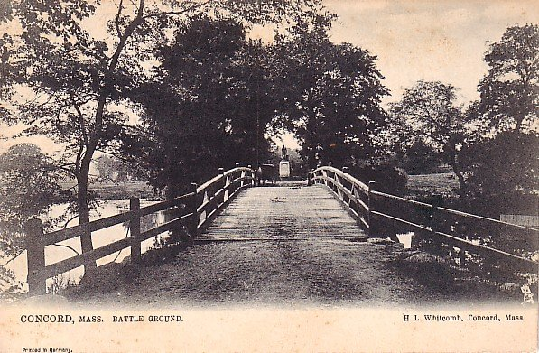 Bridge Leading to Revolutionary War Battle Ground in Concord Massachusetts MA Postcard - 1727