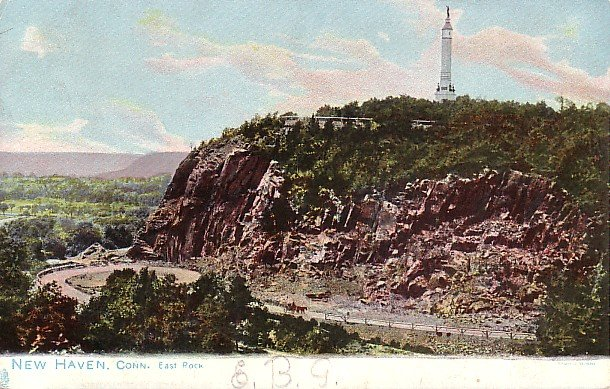 Bird's Eye View of East Rock at New Haven Connecticut CT Raphael Tuck & Sons Postcard - 1730