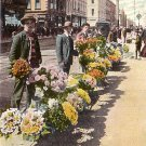 Flower Market near Chronicle Building in San Francisco California CA Vintage Postcard - 1802