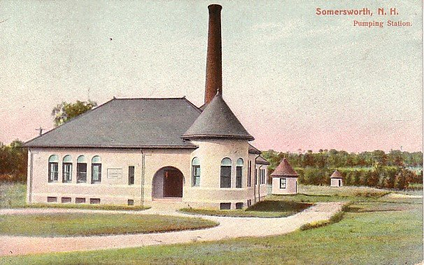 Pumping Station in Somersworth New Hampshire NH 1909 Vintage Postcard - 1846