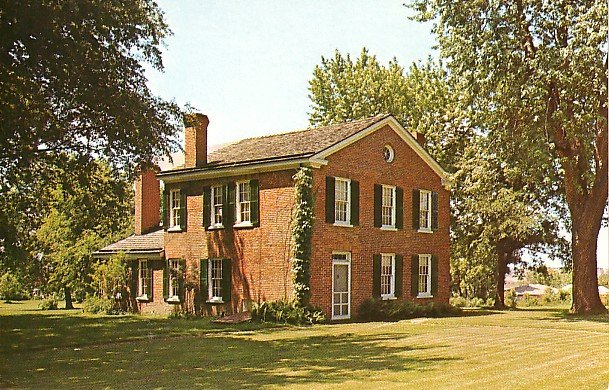Plum Grove, Home of First Territorial Governor of Iowa in Iowa City IA Postcard - 1870