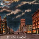 Night View of Main Street in Dayton Ohio OH 1909 Vintage Postcard - 1889
