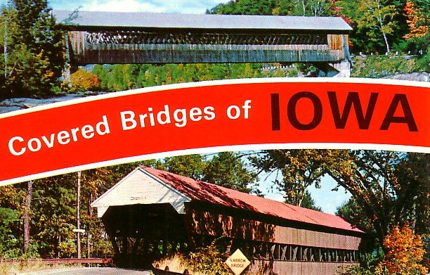 Covered Bridges of Iowa IA Chrome Postcard - 1896