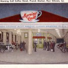 Morning Call Coffee Stand in New Orleans Louisiana LA Linen Postcard - 1900