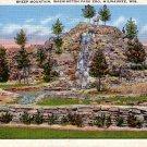 Sheep Mountain in Washington Park Zoo at Milwaukee Wisconsin WI Postcard - 1937