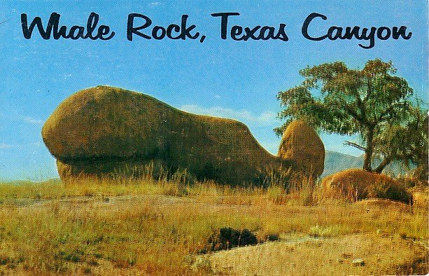 Whale Rock in Texas Canyon, Arizona AZ Petley Postcard - 1938
