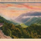 Nantahala Gorge in Great Smoky Mountains National Park Linen Postcard - 1939