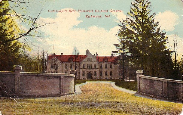 Gateway to Reid Memorial Hospital in Richmond Indiana IN Vintage Postcard - 1982