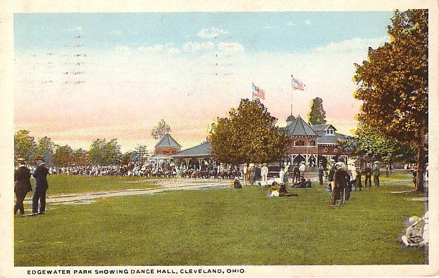 Edgewater Park Showing the Dance Hall in Cleveland Ohio OH, Vintage Postcard - 1997