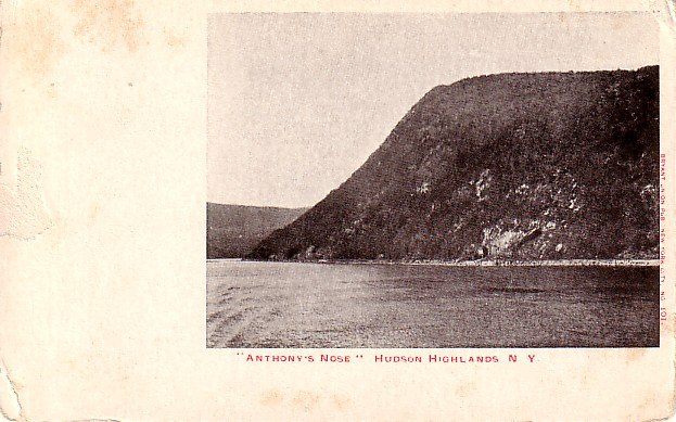 Anthony's Nose located in the Hudson Highlands New York NY Vintage Postcard - 2042