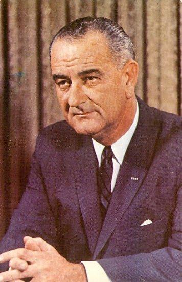 President Lyndon B. Johnson 36th President of the USA Chrome Postcard - 2053