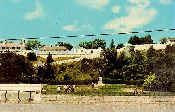 Old Fort Mackinac in Mackinac Island, Michigan 1960 Chrome Postcard - 2057