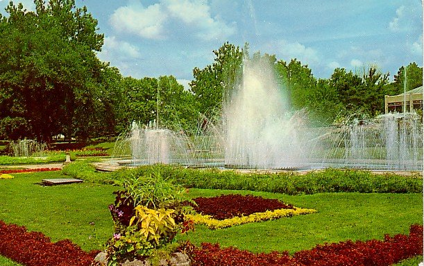 Garfield Park in Indianapolis, Indiana IN Curt Teich Chrome Postcard - 2124