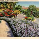 Elysian Park in Los Angeles California CA 1939 Linen Postcard - 2131